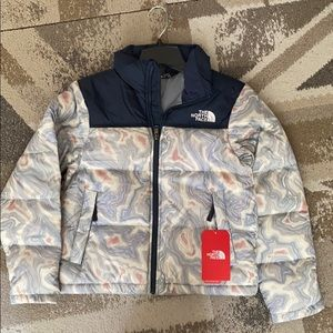NORTH FACE G Nuptse Down Jacket NWT kids M